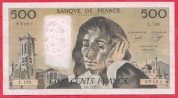 """500 Francs """"Pascal"""" Du 08/01/1981.C ----VF/SUP-----ALPH .L.130 - 1962-1997 ''Francs''"""