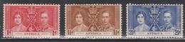ANTIGUA Scott # 81-3 MH - KGVI Coronation Set - Antigua & Barbuda (...-1981)