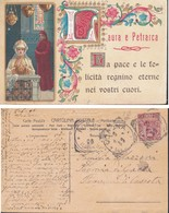 Laura E Petrarca - Buon Onomastico - Cartolina Postale D'epoca - Postcard. - Auguri - Feste