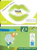 2CARTES PREPAYEE-GRECE-7€-COSMO-2005-TALK 3€-TBE- - Grèce