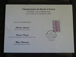 CX02 - Document Souvenir Premier Jour Championnats Du Monde D'Aviron- Novalaise (73) 30/08/1997 - FDC
