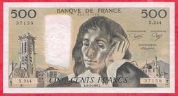 "500 Francs ""Pascal"" Du 06/02/1986.K ----XF/SUP+-----ALPH .X.244 - 1962-1997 ''Francs''"