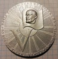 Russia USSR 1970 5th Allnation Spartakiada, Lenin, Medal Medaille 5,5 Cm - Other