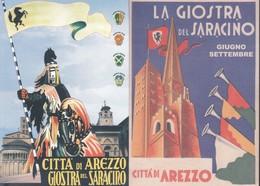 ITALIA - AREZZO:GIOSTRA DEL SARACINO.2 PEZZI N.v. - Manifestazioni