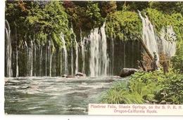 S7620 - Mosbrae Falls,Shasta Springs,on The S.P.R.R. - Oregon-California Route - Etats-Unis