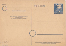 """Entier DDR Neuf 12pf Bleu-vert """"Friedrich Engels"""" (carton Crème), M 301 / C 1633 - [6] République Démocratique"""