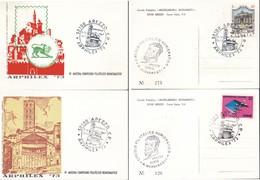 ITALIA 1973 - AREZZO:ARPHILEX.2 PEZZI N.v. - Manifestazioni
