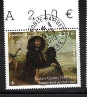 France 2019.Gustave Courbet Autoportrait Au Chien Noire.Cachet Rond Gomme D'origine. - France