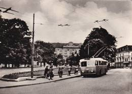Cartolina Jihlava - Náměstí Rudé Armády (trolleybus) - Repubblica Ceca