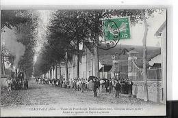 CLAIRVAUX  USINES DU PONT ROUGE  FABRIQUE LITS EN FER   TRAIN  ET  PERSONNAGES  DEPT 10 - Francia