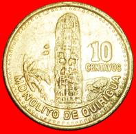 + MAYAN SCULPTURE (1976-2009): GUATEMALA ★ 10 CENTAVOS 1998! LOW START ★ NO RESERVE! - Guatemala