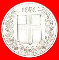 + GREAT BRITAIN BIRCH (1946-1967): ICELAND ★ 25 ORE 1951! LOW START ★ NO RESERVE! - Islandia