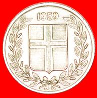 + GREAT BRITAIN BIRCH (1946-1967): ICELAND ★ 25 ORE 1959! LOW START ★ NO RESERVE! - Islandia