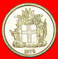 + GREAT BRITAIN 4 SPIRITS (1976-1980): ICELAND ★ 1 CROWN 1976 MINT LUSTER! LOW START ★ NO RESERVE! - Islandia
