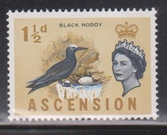 ASCENSION Scott # 76 MH - QEII & Bird - Black Noddy - Ascension