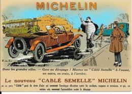 """CPM :  Le Nouveau """"CABLE SEMELLE"""" MICHELIN - Publicité"""