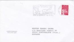 IVRY LA BATAILLE OBLITERE ANE 1999 FRANCE CIRCULEE A L'ESPAGNE - BLEUP - France