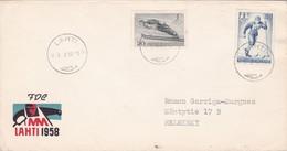 MN LAHTI FDC YEAR 1958 SUOMI FINLAND - BLEUP - Finlande