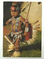 """4129 """"THE THRILLER-LITTLE NONNIE-TWO YEAR OLD PAWNEE OTOE INDIAN DANCER"""" CARTOLINA POSTALE ORIGINALE NON SPEDITA - Altre Tematiche"""
