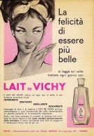 # LAIT DE VICHY 1950s Advert Pubblicità Publicitè Reklame Milk Cream Crema Creme Hydratante Protector Beautè - Unclassified