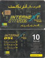 EGYPT - InterneXt 07772006, Menatel Telecard 10 L.E., CN : 339(thin), Chip Incard 4, Used - Egypt
