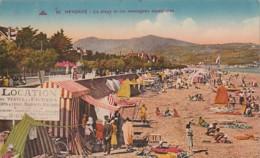 ***  64  ***  HENDAYE  La Plage Et Les Montagnes Espagnoles  Location De Tentes  Timbrée TTB - Hendaye