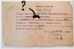LAISSEZ PASSER De 1944 WW2 - Commune ETAPLES Pour CAMBRAI - Documents