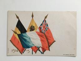 AK Patriotique Drapeau Russe Russia Francais Anglaiterre Belgique English Flag Arnaud 1914 15 - Guerra 1914-18