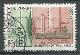 Congo YT N°161 Réhabilitation Du Travail Manuel Oblitéré ° - Congo - Brazzaville