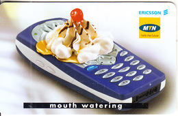 SOUTH AFRICA(chip) - Ericsson Cellular Phones 1/Mouth Watering, MTN Telecard, Chip SC8, Used - Telefoni