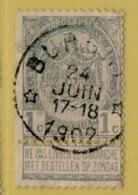 +MW-3710      *  BURGHT*    OCB 53     Sterstempel    COBA   +30 - 1893-1907 Wappen
