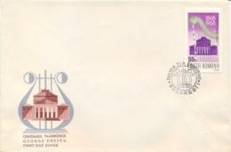 "Romania 1968 FDC Centenary Of The Bucarest Philarmonic Orchestra ""George Enescu"" - Musica"