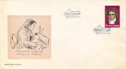 Romania 1970 FDC 200th Anniversary Birth Ludwig Van Beethoven - Musica