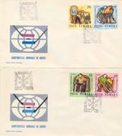 Romania 1970 FDC World Ice Hockey Championships On 2 Covers - Hockey (su Ghiaccio)