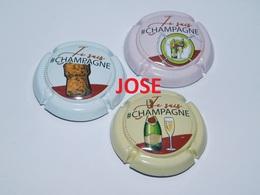 Série De 3 Capsules De Champagne  - GENERIQUE (Je Suis Champagne - Juin 2019) - Collections