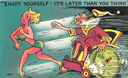 Comics Humor Comic Comique Humour - Sexy Lady Running - No. 1305 - 2 Scans - Humor
