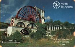 Isle Of Man - GPT, Laxey Wheel, 2IOMA, 10 U, 1989, Used - Man (Eiland)