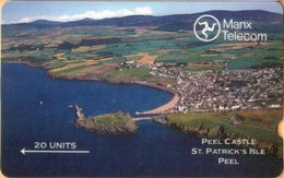 Isle Of Man - GPT, Peel Castle Deep Notch, 3IOME, 20 U, 1989, VF Used - Isola Di Man