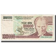 Billet, Turquie, 100,000 Lira, KM:206, TTB - Turquie