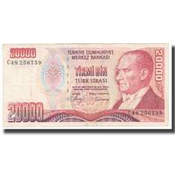 Billet, Turquie, 20,000 Lira, KM:202, TTB - Turquie
