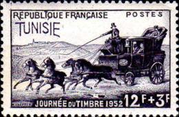 Tunisie Poste N** Yv:353 Mi:389 Journée Du Timbre Malle-poste - Tunisie (1888-1955)