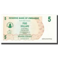 Billet, Zimbabwe, 5 Dollars, 2007, 2007-07-31, KM:38, NEUF - Zimbabwe