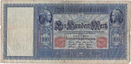 Allemagne - Billet De 100 Mark - 21 Avril 1910 - Sceau Rouge - [ 2] 1871-1918 : German Empire