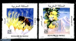 Morocco 2019 Bees, Citrons 2v, (Mint NH), Bees - Fruit - Maroc (1956-...)