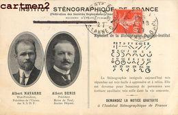 INSTITUT STENOGRAPHIQUE DE FRANCE ALBERT NAVARRE ALBERT DENIS ALPHABET ECRITURE ECOLE DUPLOYE - Esperanto