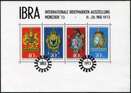Germany 1973 München IBRA Block Philatelic Exhibition Exposition Ausstellung Vignette Poster Stamp Reklamemarke - Esposizioni Filateliche