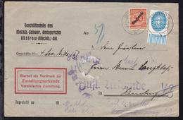 Korbdeckel Mit Aufdruck Dienstmarke 50 Pfg. Und Ziffer 4 Pfg. (Unterrandstück) - Dienstpost