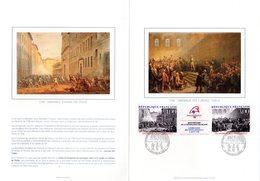""""""" REVOLUTION FRANCAISE : CONVOCATIONS DES ETATS GENERAUX """" Sur Encart 1er Jour 4 Pages N°té Sur Soie N° YT T2538A. FDC - French Revolution"""