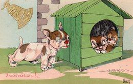 Indiscrétion - Joyeuses Pâques - Orlik - Edit. Bergeret - Dogs