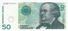 Norvège - Billet De 50 Kroner - 1996 - Peter Christen Asbjornsen - Noorwegen